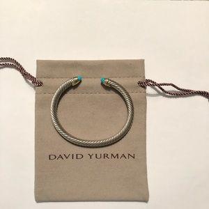 David Yurman Cable Bracelet Turquoise & 14k Gold